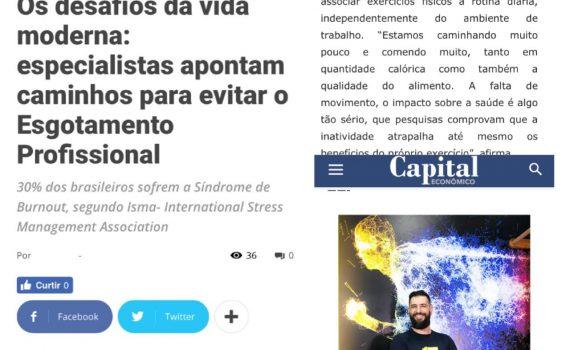 """Giulliano Esperança – Capital Econômico """"Os desafios da vida moderna: especialistas apontam caminhos para evitar o Esgotamento Profissional"""""""