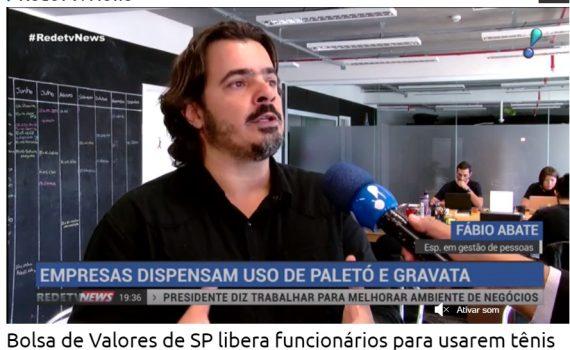 """RedeTV! News –NETAS """"Empresas dispensam uso de paletó e gravata"""""""
