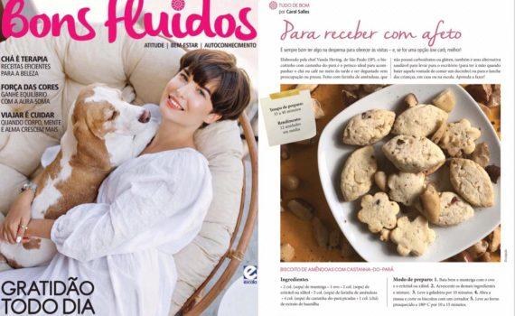 """Revista """"Bons Fluidos"""" com a matéria com Chef Vanda Hering"""